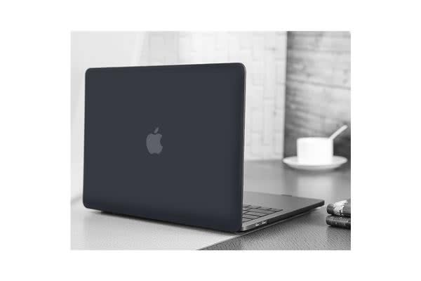 "MacBook Pro 15.4"" Matte Rubberized Hard Case Shell Cover(Black) for A1707"