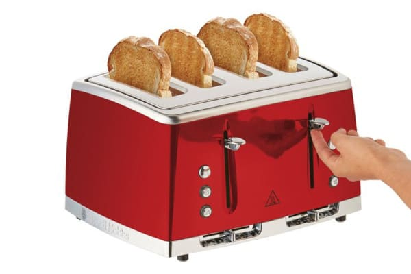 Russell Hobbs Lunar 4 Slice Toaster - Red (RHT64RBY)