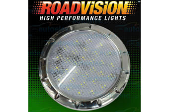 ROADVISION LED RECESSED INTERIOR DOME LIGHT LAMP ROOF CABIN CARAVAN CHROME IL100