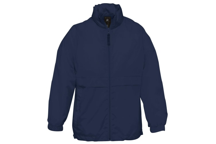 B&C Childrens Sirocco Lightweight Jacket / Childrens Jackets (Navy Blue) (7/8)