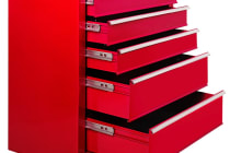5 Drawers Roller Toolbox Cabinet (Red)