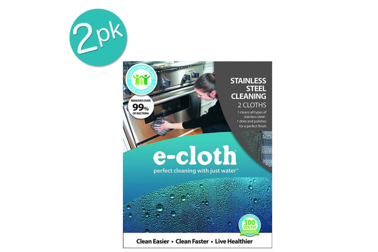 2 x 2pc E-Cloth Stainless Steel Washable Cleaning Cloths Duster Towel Polishing