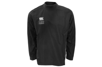 Canterbury Mens Team Water Resistant Long Sleeve Rugby Contact Top (Black/White) (S)