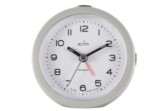 Acctim Neve Non Ticking Sweep Clock (Grey) (One Size)