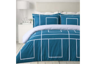 Dreamaker printed Jade Quilt Cover Set Queen Bed