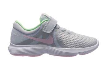 Nike Revolution 4 (PS US) Girls' Pre-School Shoe (Platinum/Pink Foam, Size 1Y US)