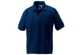Jerzees Schoolgear Childrens Hardwearing Polo Shirt (French Navy) (11-12)