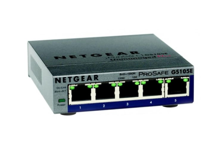 Netgear GS105E ProSAFE Plus 5-Port Gigabit Ethernet Switch (GS105E-200AUS)