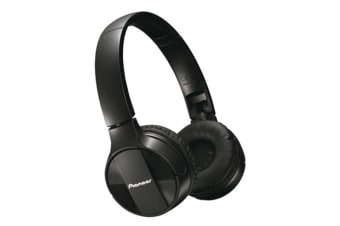 Pioneer SEMJ553BT Black Bluetooth On-ear Wireless Headphones/Mic for Smartphones