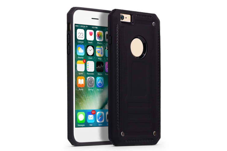 For iPhone 6 & 6S Case  Armour Strong Shockproof Thin Tough Phone Cover  Black