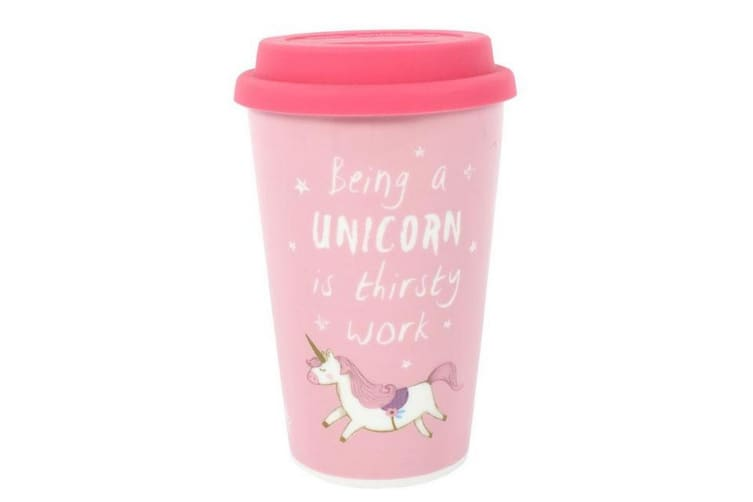 Something Different Being A Unicorn Is Thirsty Work Ceramic Boxed Travel Mug (Multicolour) (One Size)
