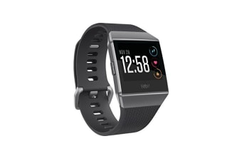 Fitbit Ionic Fitness Watch - Charcoal and Smoke Gray (S & L Bands Included)