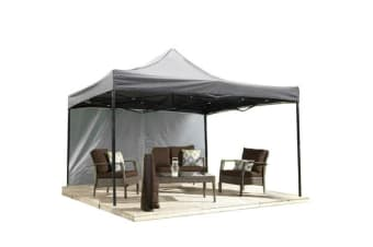 3x3m Pop Up Gazebo Folding Marquee in Grey