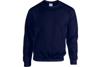 Gildan Heavy Blend Unisex Adult Crewneck Sweatshirt (Navy) (2XL)