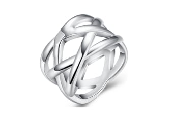Fine Nets Ring New Design Silver Plated Trendy Ring 9