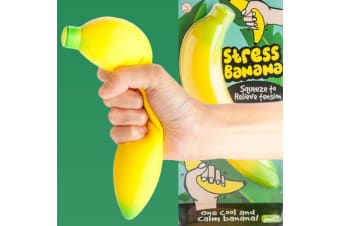 Stress Banana | Banana-shaped Foam Rubber Stress Reliever