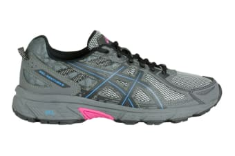 ASICS Women's Gel-Venture 6 Running Shoe (Black/Island Blue/Pink Glow)