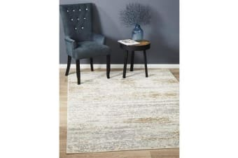 Landon Cream & Tan Vintage Look Rug 230x160cm
