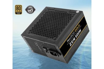 Antec Neo Eco ZEN 500w PSU 80+ Gold, 120mm Silent Fan, Thermal Manager, Japanese
