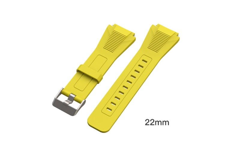 Select Mall Watch Straps Silicone Quick Release Soft Rubber Replacement Watch Bands Suitable for Huawei GT Watches-Yellow