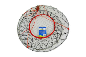 Wilson Ready Rigged Wire Bottom Crab Net- 2 Rings With Float And Rope