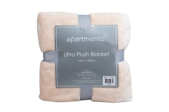 Apartmento Ultra Soft Blanket (Single/Blush)