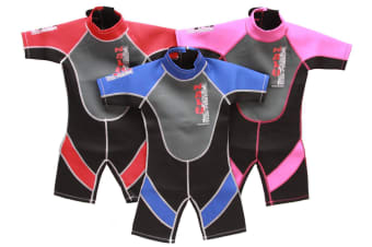 "28"" Chest Childs Shortie Wetsuit in Red"
