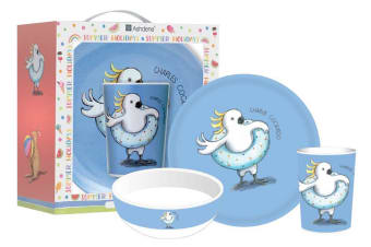 Ashdene Summer Holiday with Barney Gumnut & Friends Kids Dinner Set of 3 Charles Cockatoo