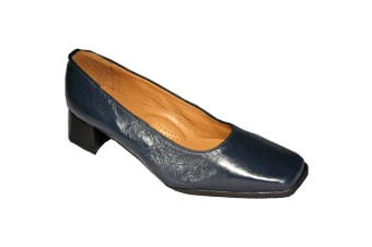 Amblers Walford Ladies Wide Fit Court / Womens Shoes (Navy)