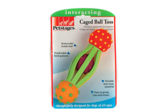 Petstages Caged Ball Toss Dog Toy (Multicoloured) (One Size)