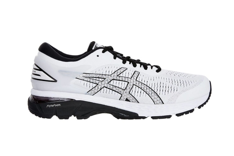 purchase cheap exquisite style the best attitude ASICS Men's Gel-Kayano 25 Running Shoe (White/Black, Size 13.5)