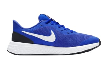 Nike Kids Unisex Revolution 5 GS Shoes (Blue/White, Size 6 US)