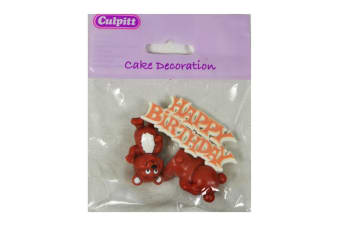 Culpitt Party Cake Toppers (Bear) (One Size)
