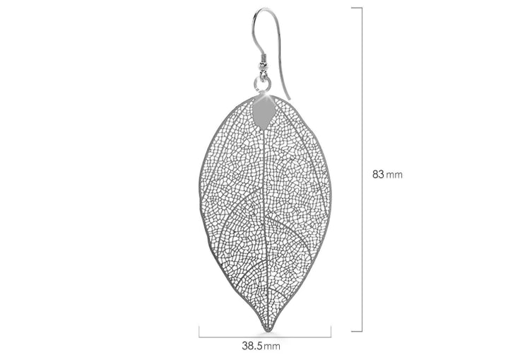 Laser Etched Earrings In White Gold