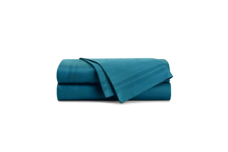 Bambury 1000 Thread Count Cotton Rich Sheet Sets - Teal - Queen