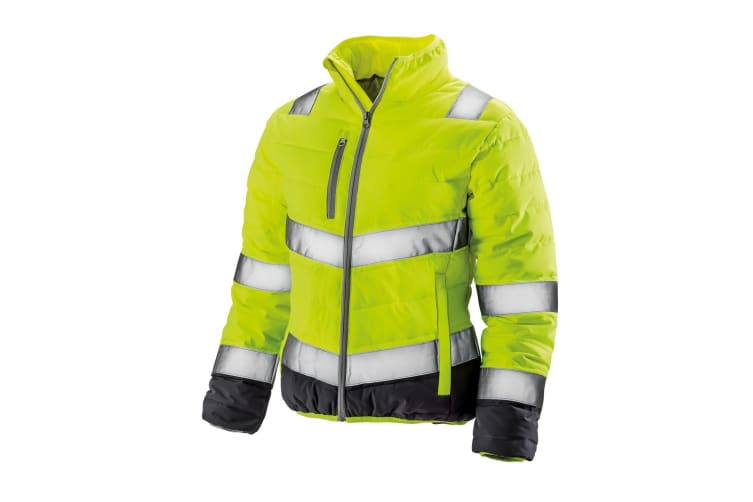 Result Womens/Ladies Safe-Guard Soft Safety Jacket (Fluorescent Yellow/Grey) (M)