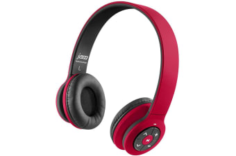 Jam Transit Wireless Bluetooth Headband Stereo Headphones Headset Mic Red