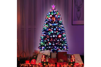 Christmas Tree Xmas Fibre Optic LED Green MULTI COLOUR 1.2m 4Ft
