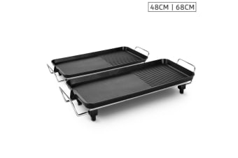 SOGA 48cm 68cm Electric BBQ Grill Teppanyaki Tough Non-Stick Surface Hot Plate Kitchen Bundle