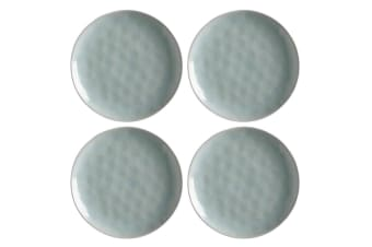 4PK Maxwell&Williams Wayfarer 20cm Food Snacks Bread Plate Stoneware Seafoam