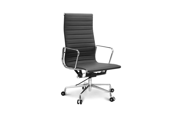 Ergolux Executive Eames Replica High Back Ribbed Office Chair (Black)