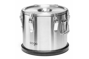 SOGA 304 30*29cm Stainless Steel Insulated Food Carrier Food Warmer