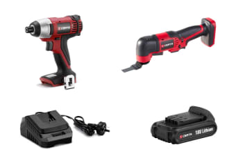 Certa PowerPlus 18V Impact Driver and Multi-Tool Combo Kit