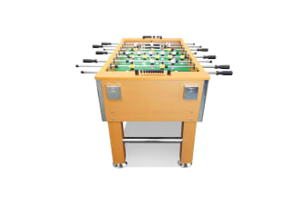 5FT Soccer Foosball Table Heavy Duty for Pub Game Room with Drink Holders, Oak