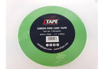 Green Fine Line Tape jtape 6mm x 55m Panel Repair Paint Prep Masking