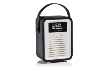 View Quest Black Retro Mini DAB Digital Radio/USB/AUX/Bluetooth Portable Speaker