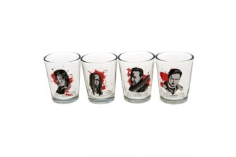 The Walking Dead Official Character Shot Glass Set (Pack Of 4) (Clear) (One Size)