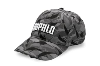 Rapala Camo Fish Lighted Cap - Fishing Hat with 5 LED Lights - Fishing Head Lamp