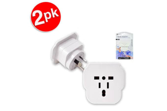 2x Sansai Universal Travel Power Adapter Outlet UK EU US Sockets to AU/NZ Plug