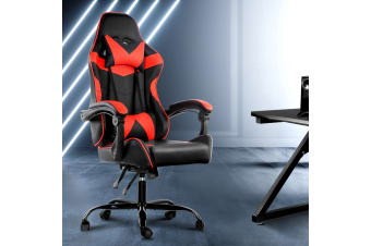 Artiss Gaming Office Chair Computer Chairs Seat Racing Recliner Racer Black Red